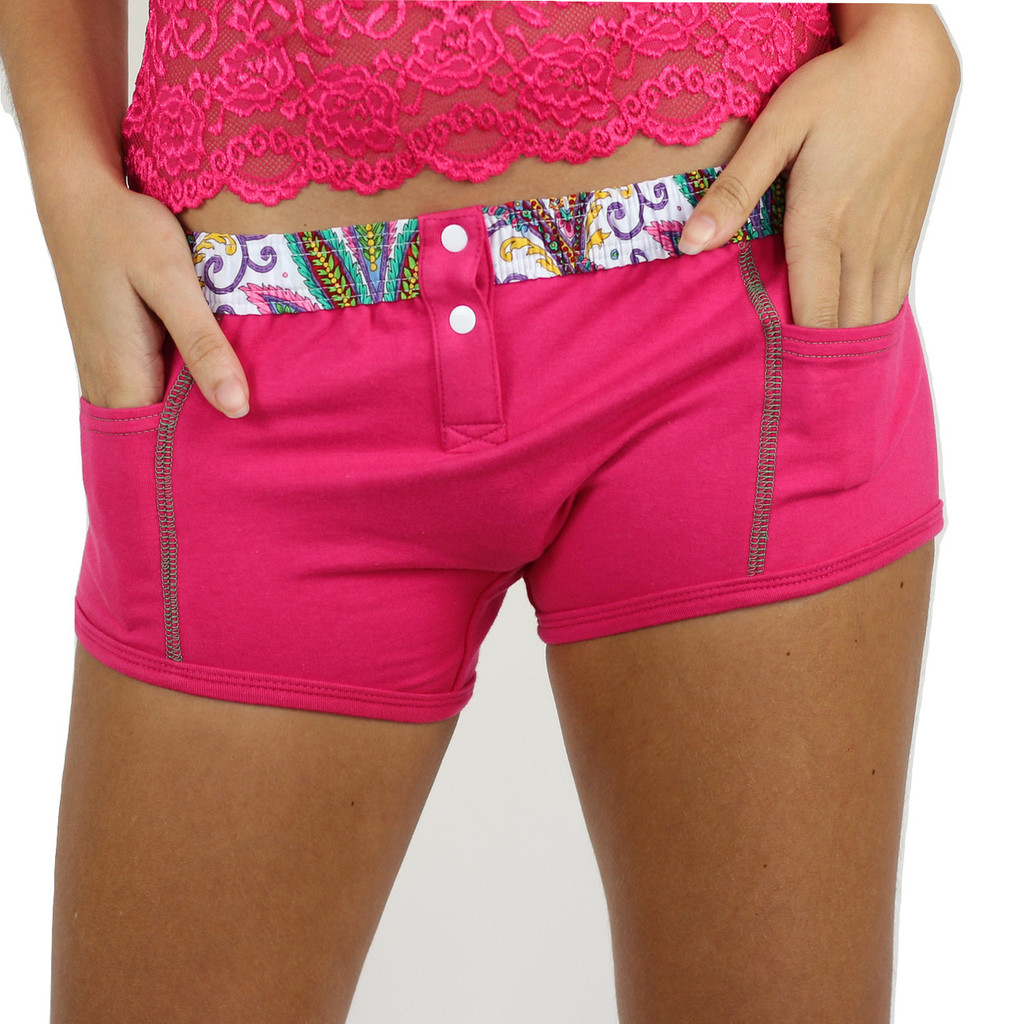 So Paisley Electric Pink Tomboy Boxer Brief