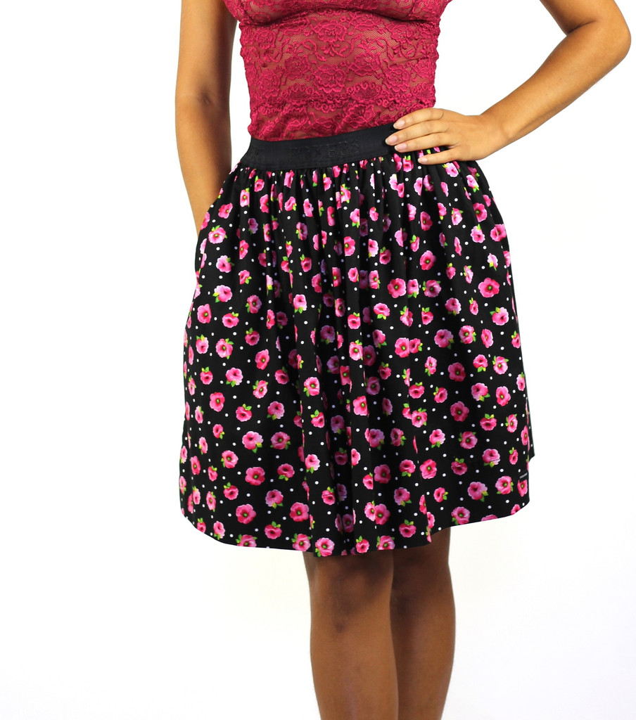Evening Rose Skirt with Pockets