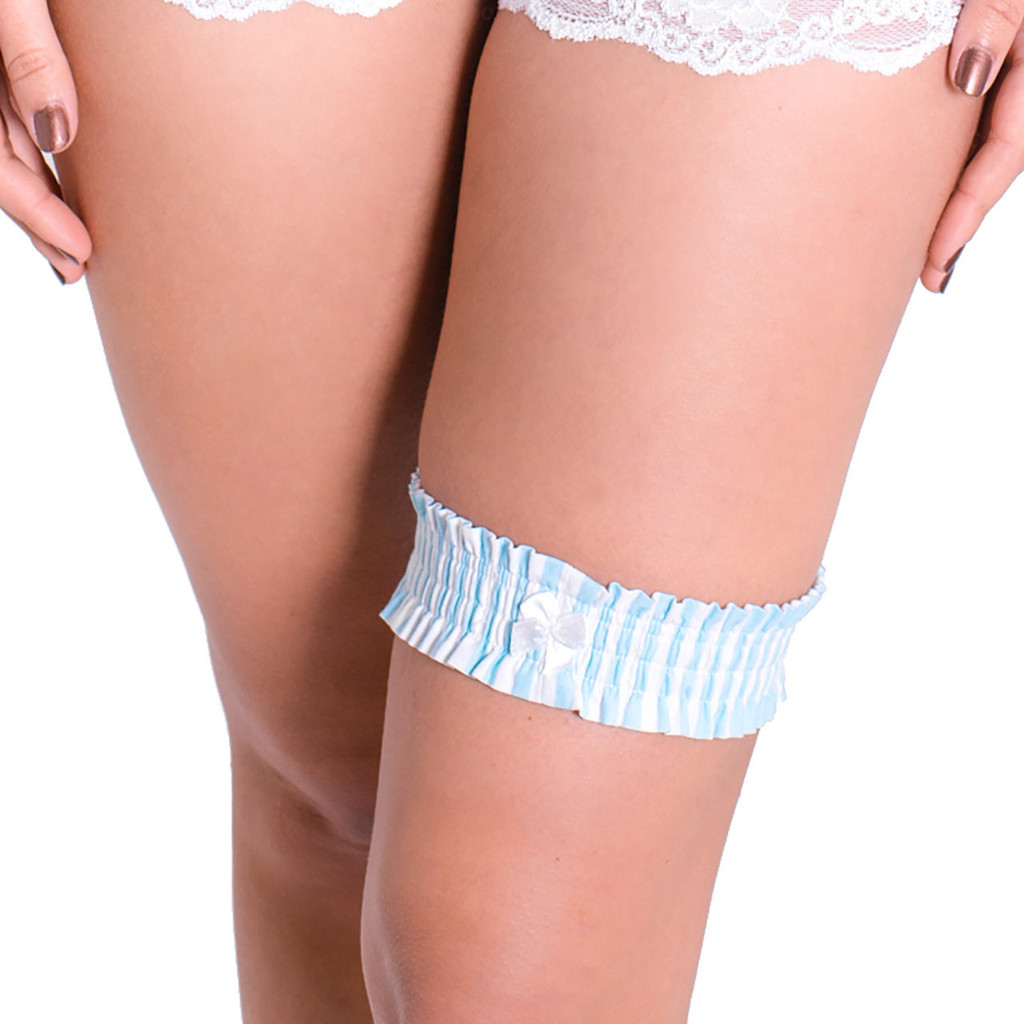Mint Blue Bridal Garter