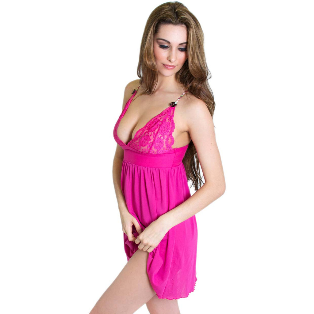 Hot Pink Chemise Nightie