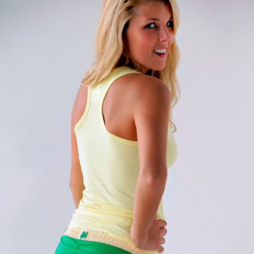 Yellow Racer Back Bra Tank