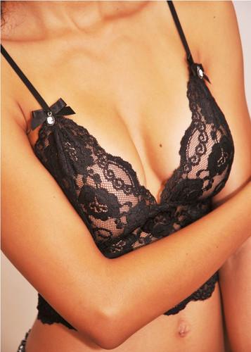 Black / Black Lace Camisole 2239