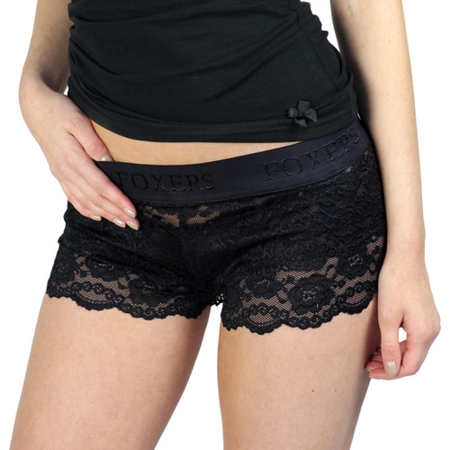 Black Lace Boyshort Boxers
