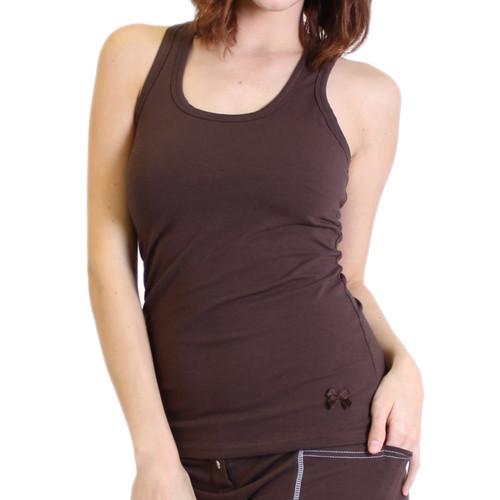 Women's Brown Tank Top with built in bra