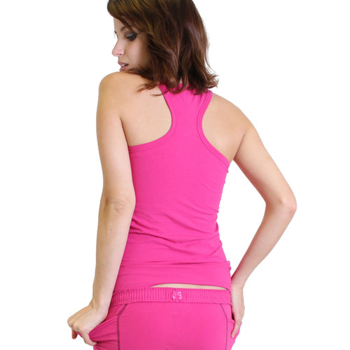 Hot Pink racer back Tank Top