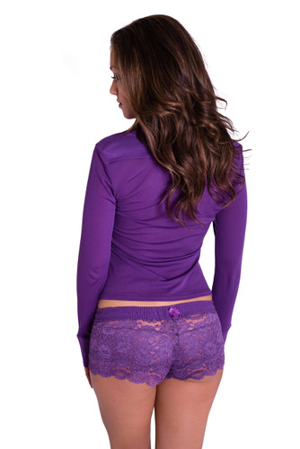 Grape Sheer Western Lounge Top