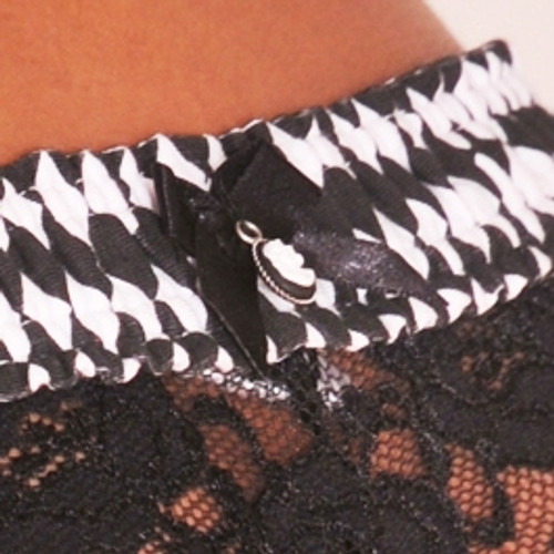 Black White Harlequin / Black Lace Boxers