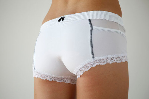 White Boxer Brief (Black Trim)
