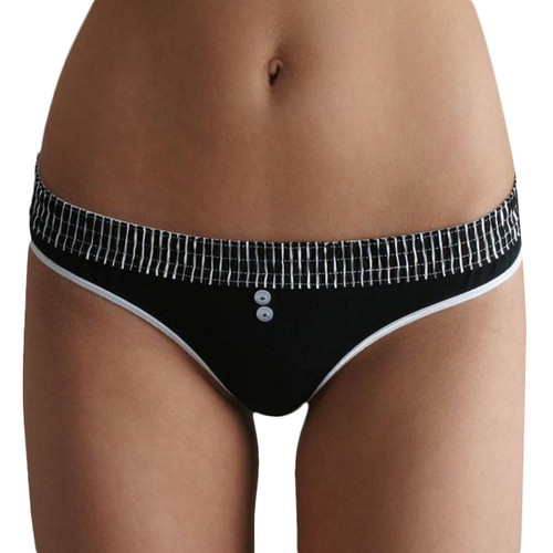 Black Stripe over Black Bstring Thong