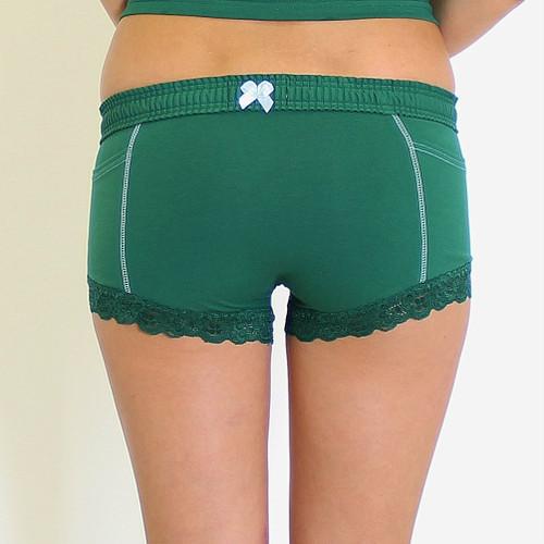 Green Boxer Brief Underwear
