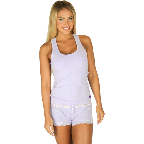 Lavender Racer Back Tank Top