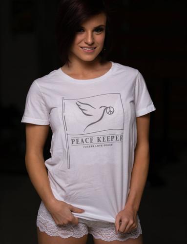 FOXERS Peace White Tee