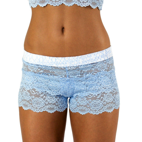 Light Blue Lace Boxers