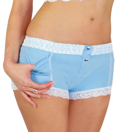 Light Blue Boxer Brief with Trellis FOXERS Band (FXBB-04116)