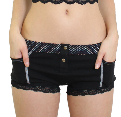 Black Boxer Brief with FOXERS Dot Band