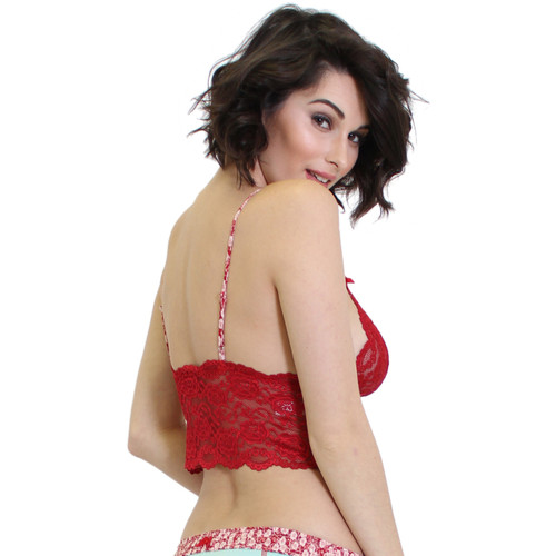 Red Lace Cami Top