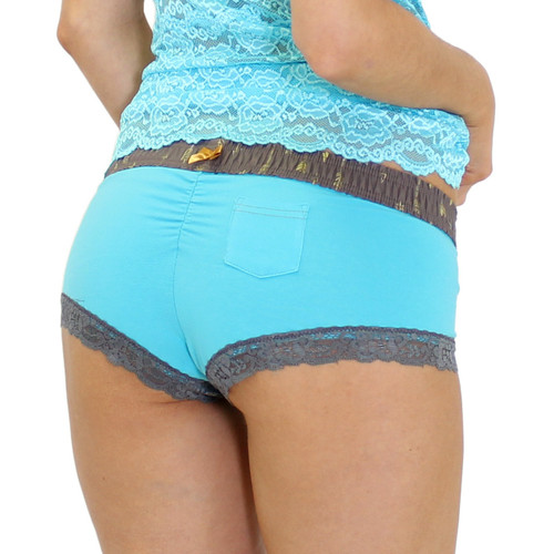 Cute Aqua Turquoise Boy Shorts Panties