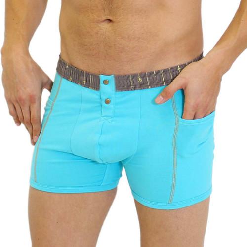 Men's Turquoise Boxer Briefs