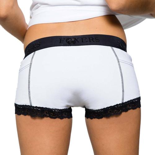 7d3b9dd4fed Women s White Tuxedo Boxer Brief Panties