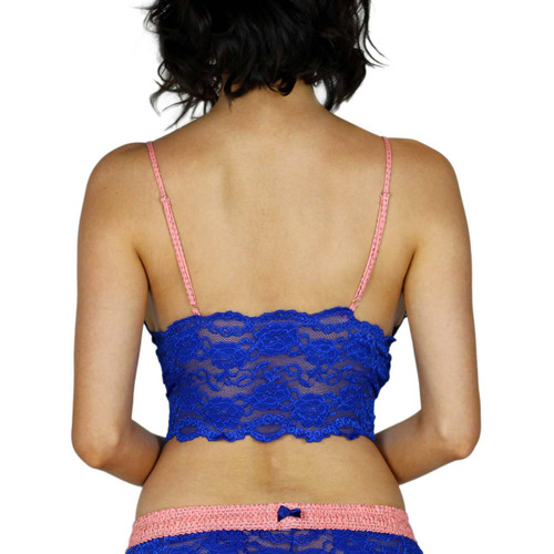 Royal Blue Camisole with Coral Reef Straps
