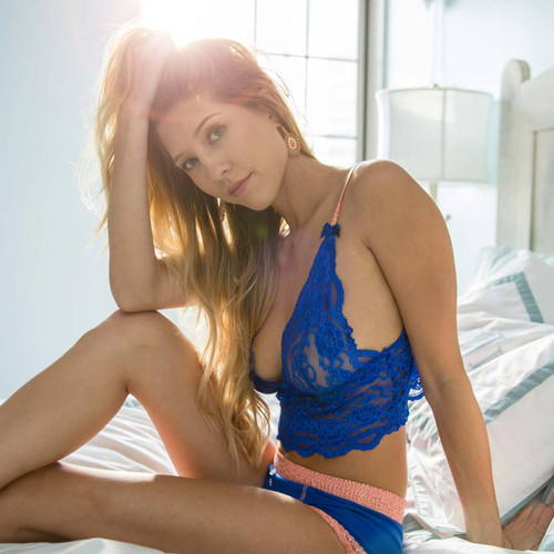 Coral Reef Collection Royal Blue Lace Top and Sexy Boyshorts