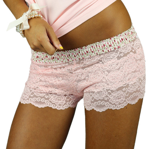 Pink Lace Panties with Comfortable and Stylish Waistband