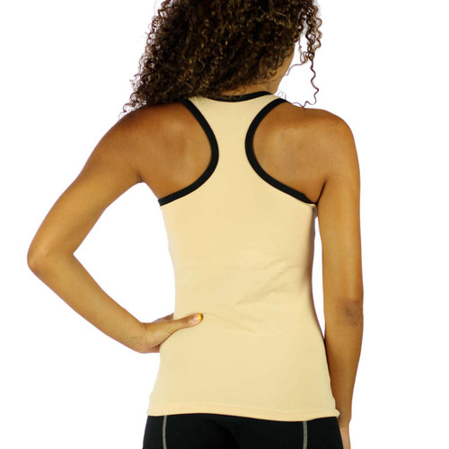 The Racerback design offer full motion of your arms for better flexibility while doing yoga or working out.