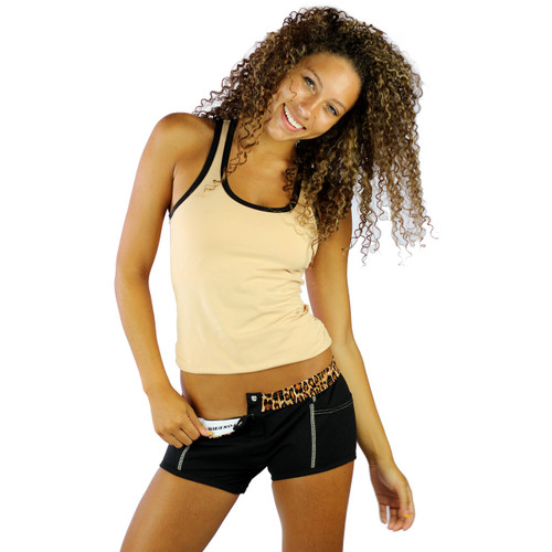 Pair our Sahara Oasis Sand Racerback Tank Top with our Black Tomboy Boxer Briefs for a fun and comfortable lounge set.
