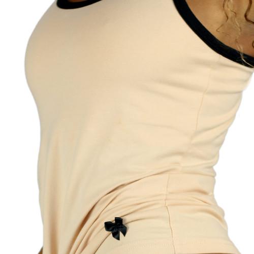 Black Satin Bow  and Black Trim Detail
