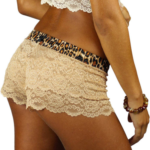 Our Women's Nude Lace Boxer Briefs are soft, slightly sheer and a little cheeky for a sexy yet comfortable look and feel!