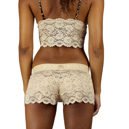 Our nude lace boxers for women are sexy, comfortable and do know show visual panty lines under tight dresses or pants.