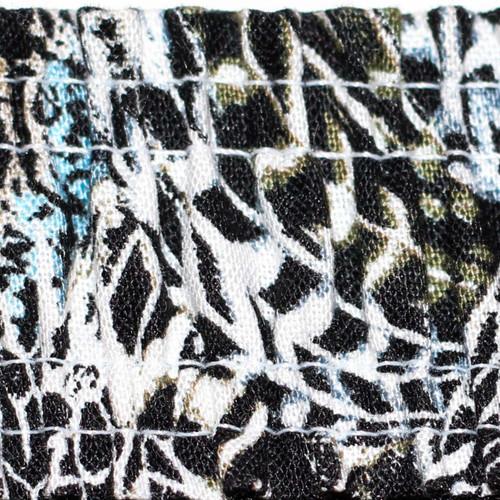 Hip Length Black Lace Camisole (Feather Print Straps)