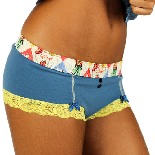Grey Blue Womens Underwear