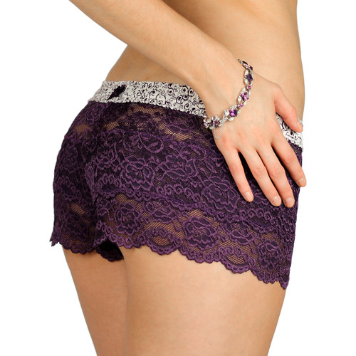 Purple Lace Boxers from the FOXERS Plum Perfect Collection