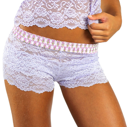 English Lavender Women's Lace Boxers