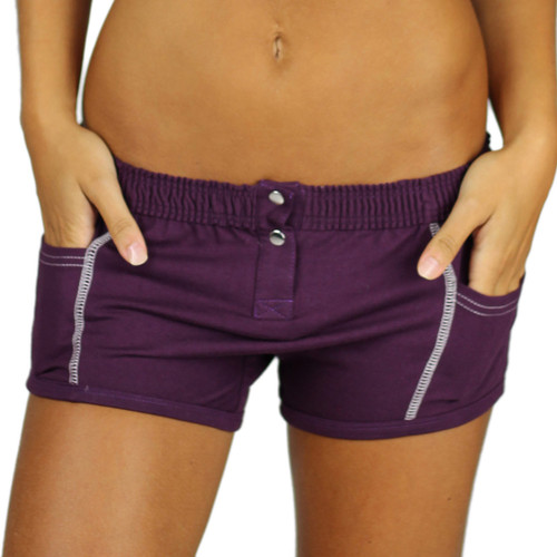 Womens Boxers with Pockets | Purple