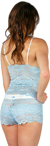 Light Blue Lace Babydoll Camisole and Matching Lace Boxers