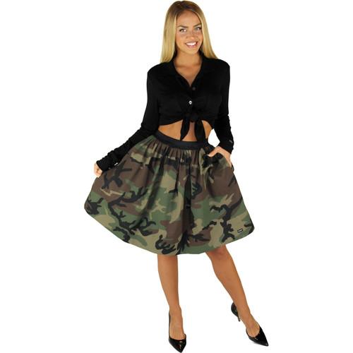 Camo Skirt With Pockets