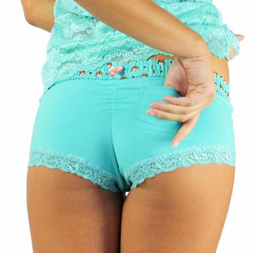 Ocean Turquoise Panties with Hedgehog Waistband