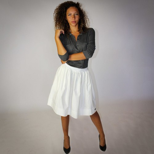 Ivory Skirt With Pockets (FXSKT-11)