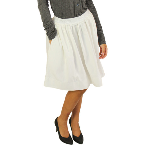 Ivory Pocket Skirt by Foxers
