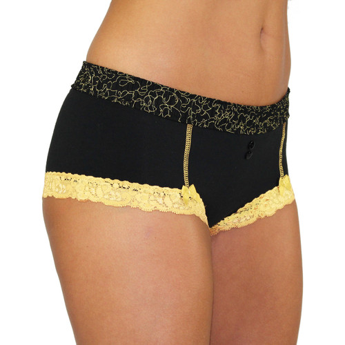 Black Boyshorts with Masquerade Band | FOXERS
