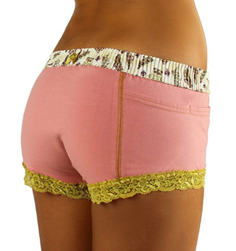 French Rose Boxer Briefs with Royal Day Waistband