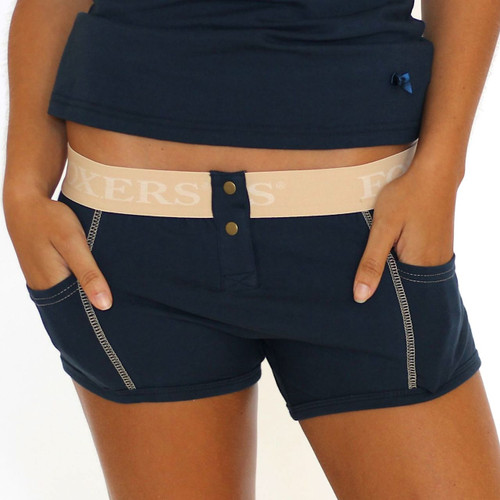 navy tomboy boxer brief for women