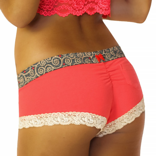 Bright Red Hot tamale boyshort