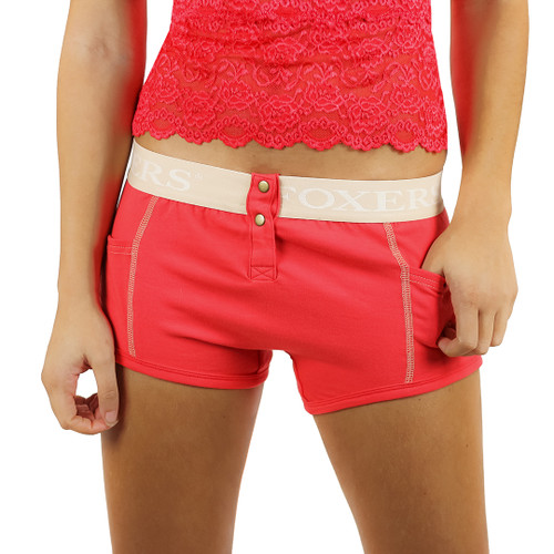 Red boxers for women