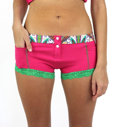 Electric Pink Boxer Brief with Pockets