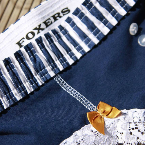 Navy Boyshort with Navy White Stripe FOXERS Waistband