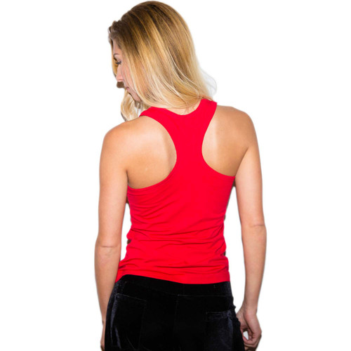 Womens Red Tank Top with Racerback Design