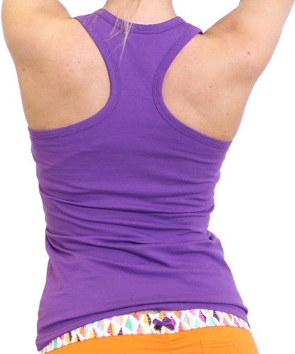Purple Racer Back Tank Top